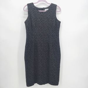 Calvin Klein Leopard Print Sheath Dress